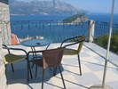 Spacious terraces with beautiful views of the sea and the old town of Budva.